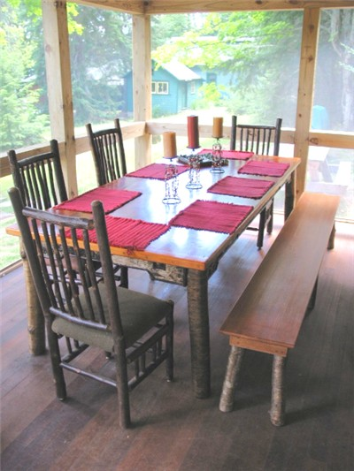 dining table Adirondack Lake Placid New York