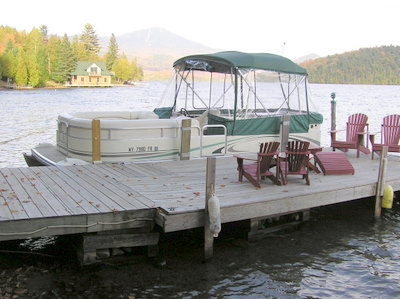 dock Adirondack Lake Placid New