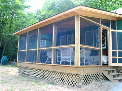 porch Adirondack Lake Placid New York vacation