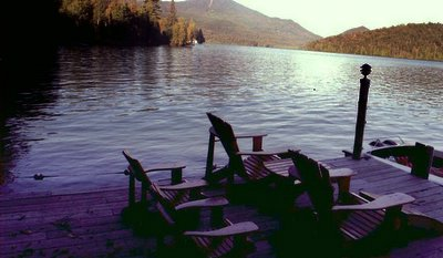 Whiteface from the dock Adirondack Lake Placid New