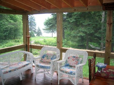 porch from inside Adirondack Lake